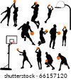 basketball and backboard vector - stock vector