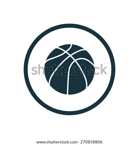 basketball ball icon circle shape on white background - stock vector