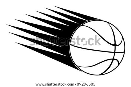 basketball ball in speed