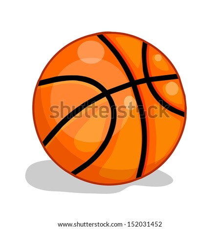 basketball ball isolated illustration on white background - stock vector