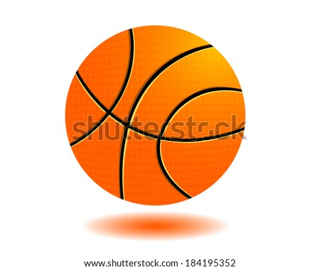 basketball ball to play on white background - stock vector