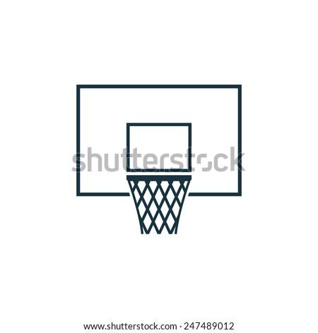 basketball basket icon on white background  - stock vector