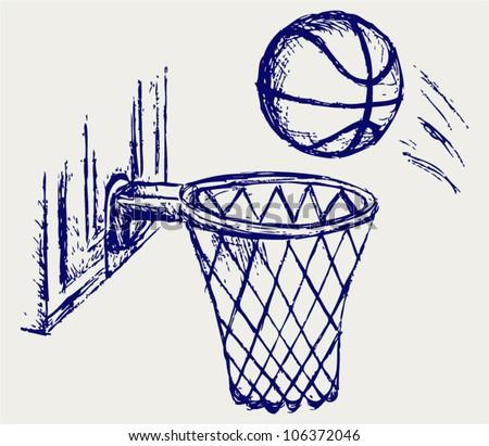 Basketball board - stock vector