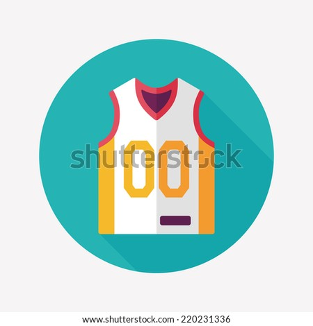 basketball clothing flat icon with long shadow,eps10