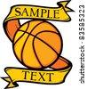 basketball club emblem (design, symbol, sign) - stock vector