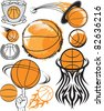 Basketball Collection - stock photo