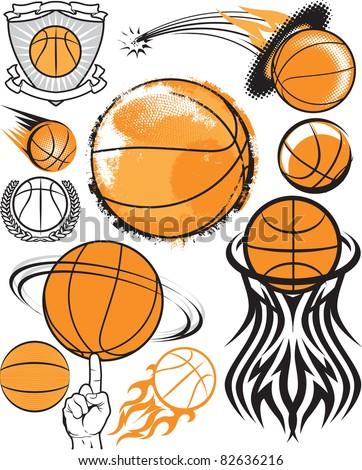 Basketball Collection - stock vector