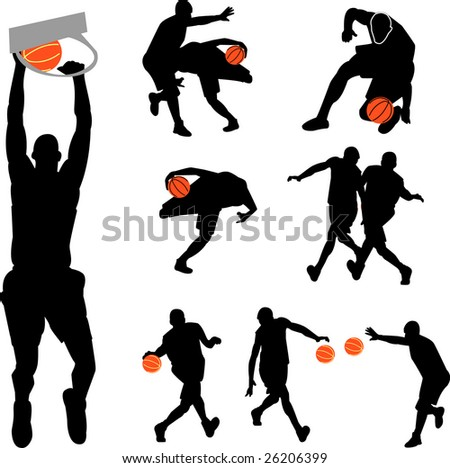 basketball collection - vector