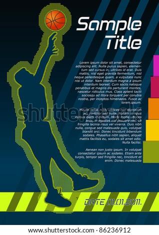 Basketball concept poster template. Vector illustration. - stock vector
