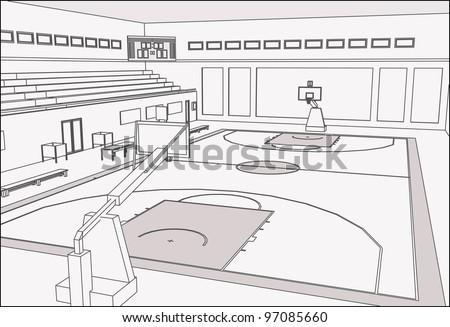 basketball court stock vector royalty free 97085660 shutterstock