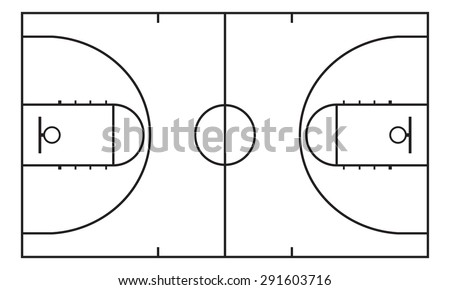 Basketball court. Background for sport strategy. Vector infographic element.  - stock vector