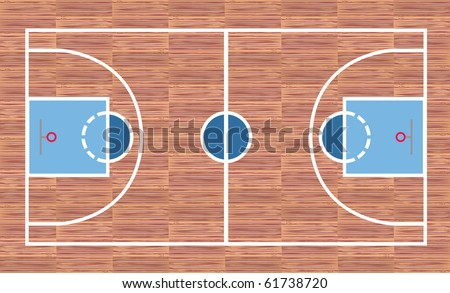 Basketball court - View from above - stock vector