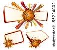 basketball design element - stock vector