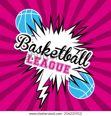 basketball design over ligth purpple texture  background vector illustration. - stock vector
