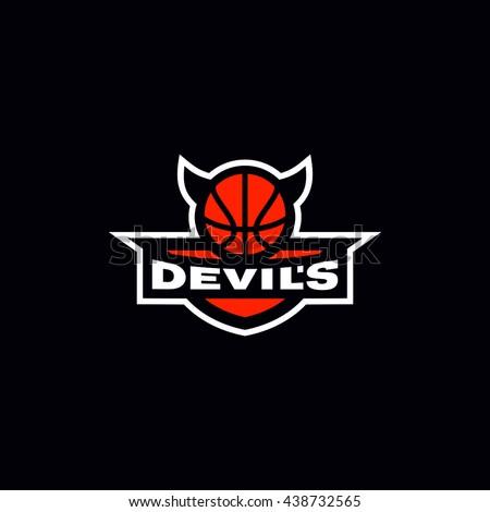 Basketball devils team shield logo emblem stock vector hd royalty basketball devils team shield logo emblem voltagebd Gallery