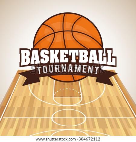 Basketball digital design, vector illustration 10 eps graphic - stock vector