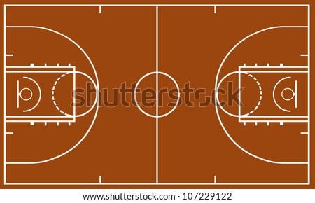Basketball field - stock vector