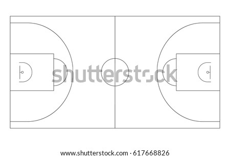 Basketball court plan lines areas center stock vector 663372961 basketball field outline plan basketball platform vector template pronofoot35fo Choice Image