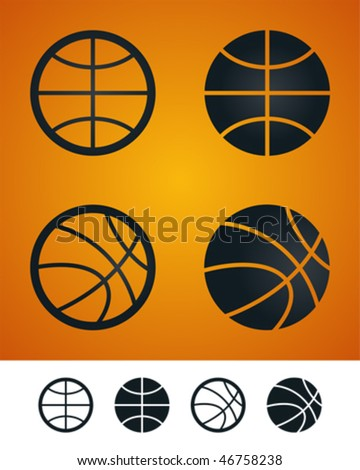 Basketball icon. - stock vector