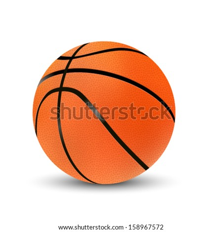 Basketball isolated. Vector - stock vector