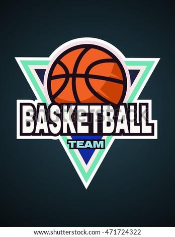 basketball logo template basketball logotype badge stock vector 315456875 shutterstock. Black Bedroom Furniture Sets. Home Design Ideas
