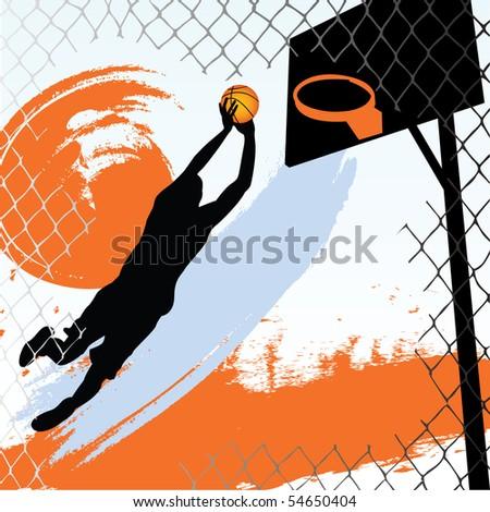 basketball player - stock vector