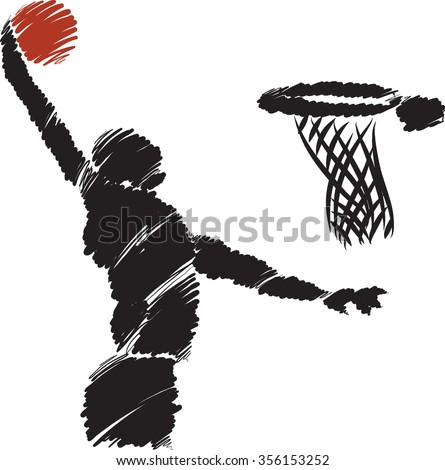 BASKETBALL player illustration 3 - stock vector