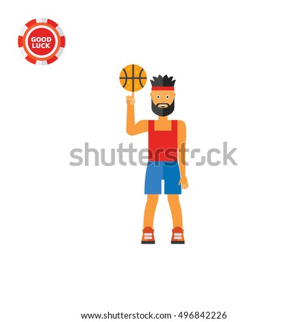 Basketball Player Spinning Ball Icon