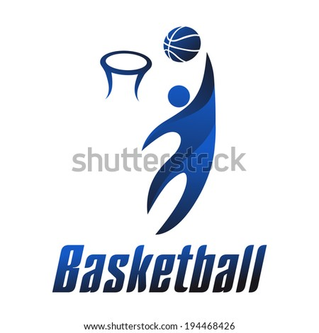 Basketball player, sports icons, vector illustration - stock vector