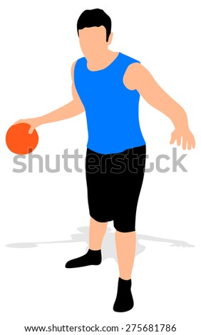 Basketball player, vector - stock vector