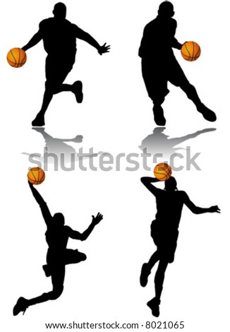 basketball player vector - stock vector