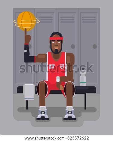 Basketball player. Vector flat illustration - stock vector
