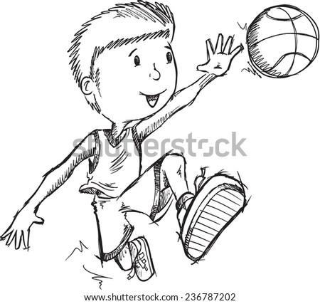 Basketball Sketch Immagini Stock Immagini E Grafica Vettoriale Royalty Free | Shutterstock