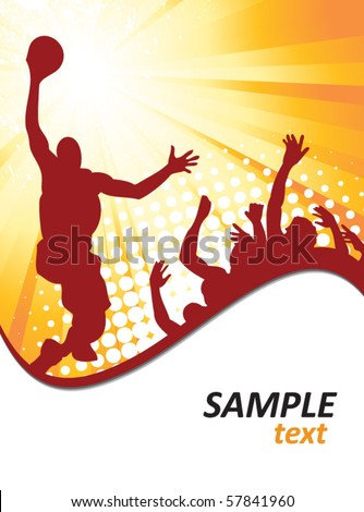 basketball poster - stock vector