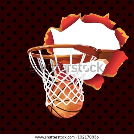 basketball poster-banner - stock vector