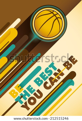 Basketball poster with abstract design. Vector illustration. - stock vector