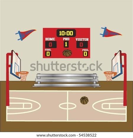 Basketball Scene - stock vector