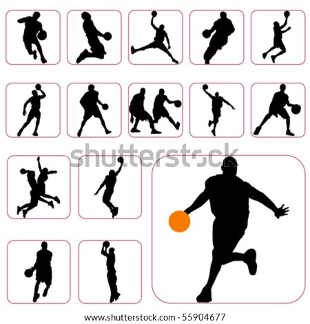 basketball set - stock vector