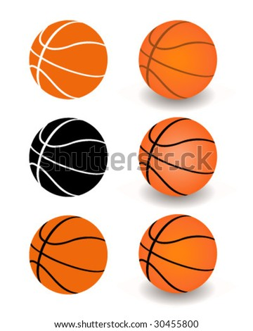 Basketball Set - Vector Illustration - stock vector
