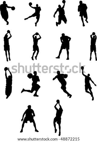 Basketball Silhouette - stock vector