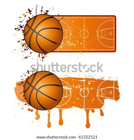 basketball sport design elements - stock vector
