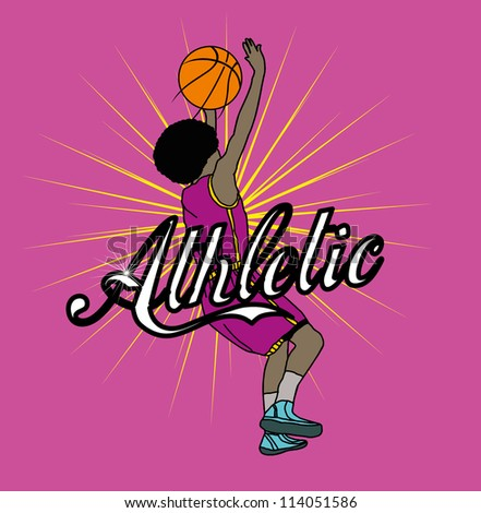 basketball star - stock vector