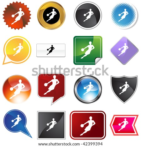 Basketball variety set isolated on a white background.