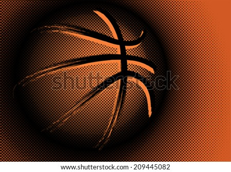 Basketball, vector - stock vector
