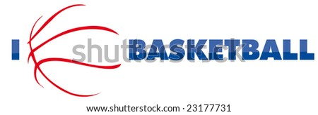 basketball vector logo - stock vector