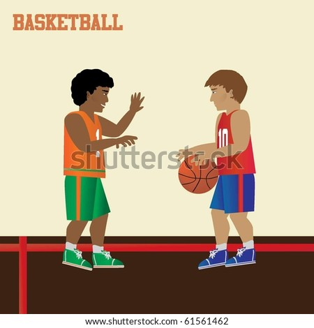 Basketball Vectors - stock vector