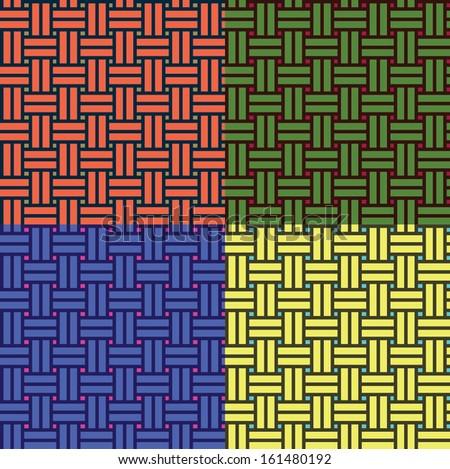 basketwork pattern 03 - stock vector