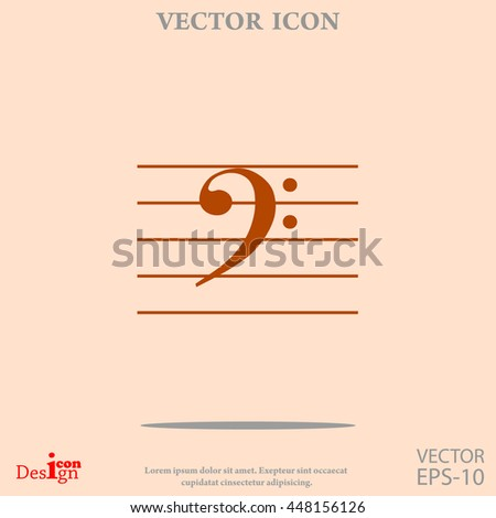 bass music key vector icon