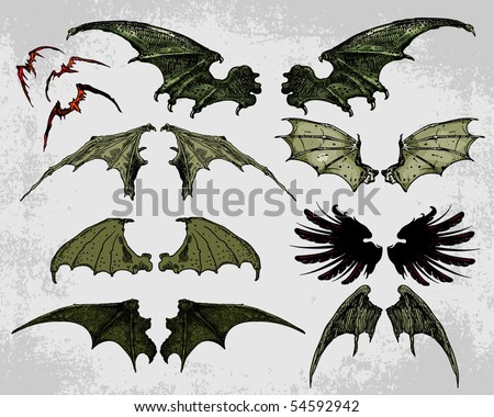 Bat Wings - stock vector