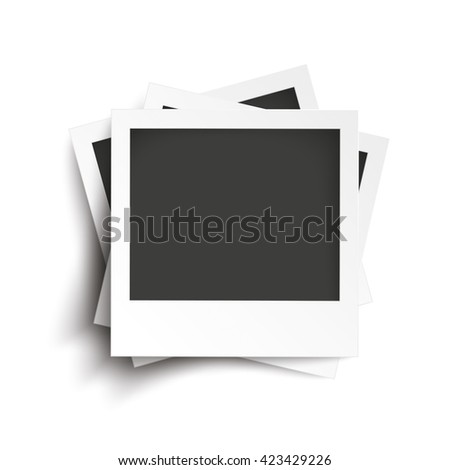 Batched instant photos on the white background. Eps 10 vector file.